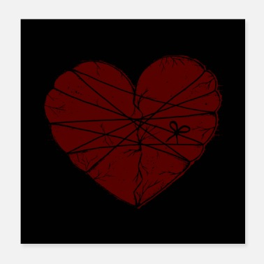 Emotion Heart poster - Poster 20x20 cm
