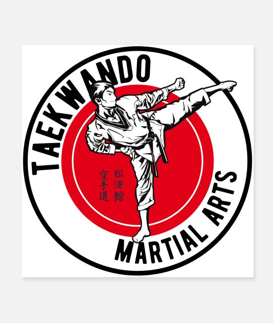Martial Arts Posters - taekwando - Posters white