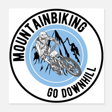 Mountain Bike Mountain bike downhill - Poster 20x20 cm