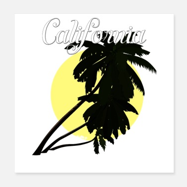 Watersport Californië - Poster 20x20 cm