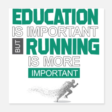 Fitness Education is important race is more important - Poster 20x20 cm