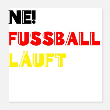 European Champion Football is running World Cup Germany Fanshirt - Poster 20x20 cm