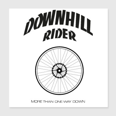 Downhill rijder - Poster 20x20 cm