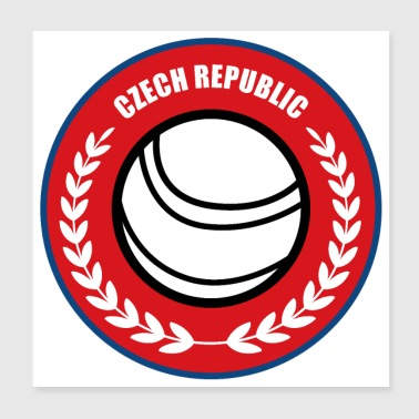 Fistball Czech Republic Team World Cup gift - Poster 20x20 cm