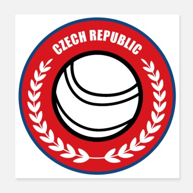 Campione D'europa Fistball Repubblica ceca Team World Cup regalo - Poster 20x20 cm