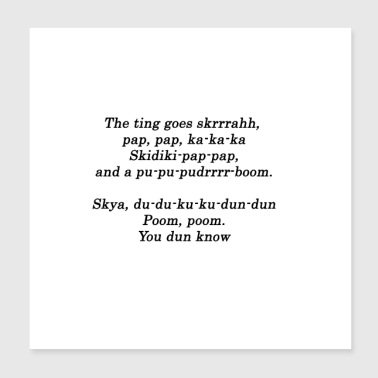 Hip Hop The Ting Quote Design Geschenkidee - Poster 20x20 cm