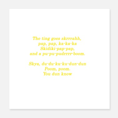 Hip Hip Hop The Ting Quote Design Gift Idea - Poster 20x20 cm