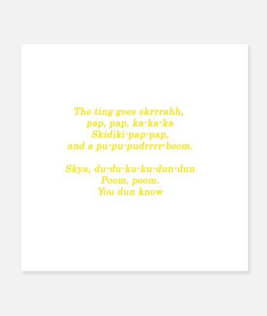 Rap Posters - Hip Hop The Ting Quote Design Gift Idea - Posters white