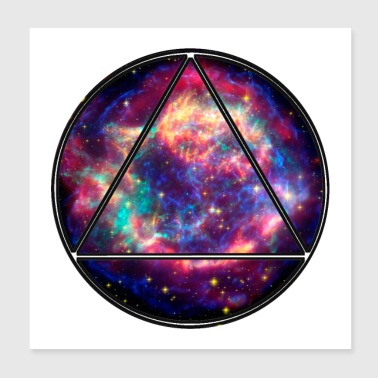 Circle triangle universet gave - Poster 20x20 cm