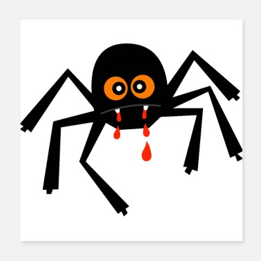 Trick Or Treat Halloween Spindel - Förtrollad Häxa Web Bloodsucker - Poster 20x20 cm