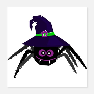 Net Halloween spider with hat - Enchanted witch net - Poster