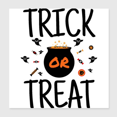 Trick Or Treat - Halloween candy pranks - Poster 20x20 cm