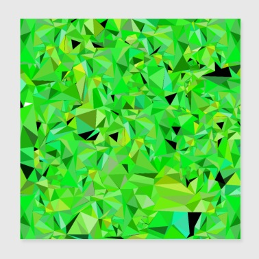 Polygone vert Low Poly vert clair abstrait - Poster 20 x 20 cm