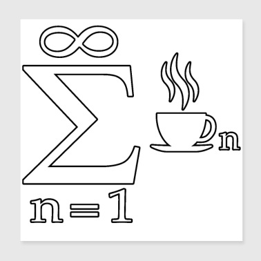 Blague mathématique Infinity Coffee Science - Poster 20 x 20 cm