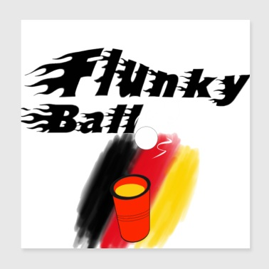 Flankyball - Poster 20x20 cm
