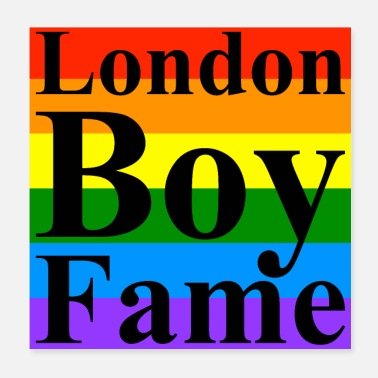 Pride London Boy Fame Pride - Poster 20x20 cm