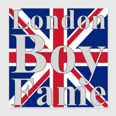 London Boy Fame Union Jack - Poster 20x20 cm