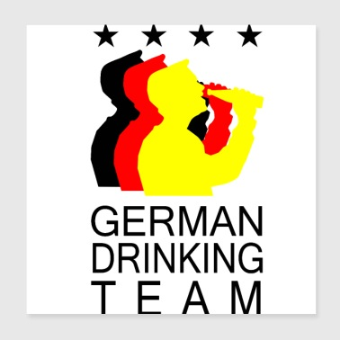 DRINKING TEAM GERMANY - Poster 20x20 cm
