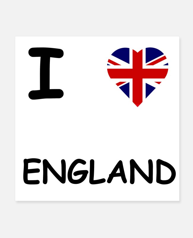 Gift Posters - I LOVE ENGLAND / GROOT-BRITTANNIË CADEAU-IDEE - Posters wit