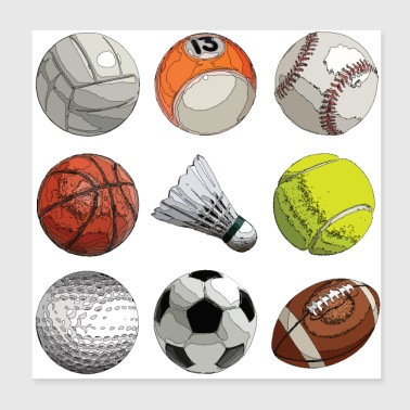 ball Sports - Poster 20x20 cm