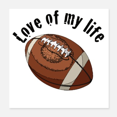 American Football footblove1 - Poster 20x20 cm