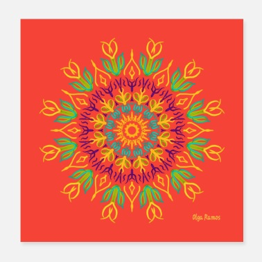 Association Coral Mandala Reconstruction - Poster 20x20 cm
