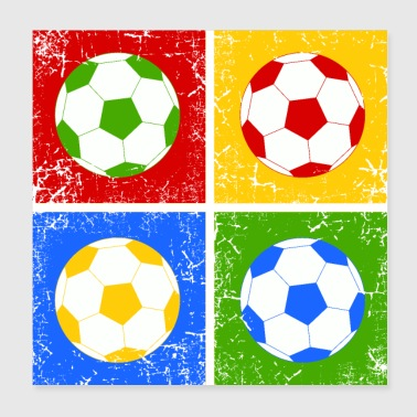 Football Pop Art - Poster 20 x 20 cm