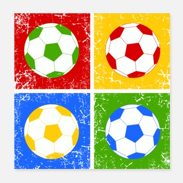 Football Football Pop Art - Poster 20 x 20 cm