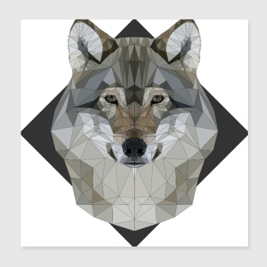 wolf - Poster 20x20 cm