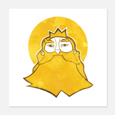King The king - Poster 20x20 cm