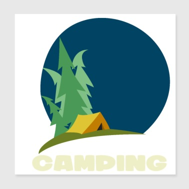Camping and road trip design - Poster 20x20 cm