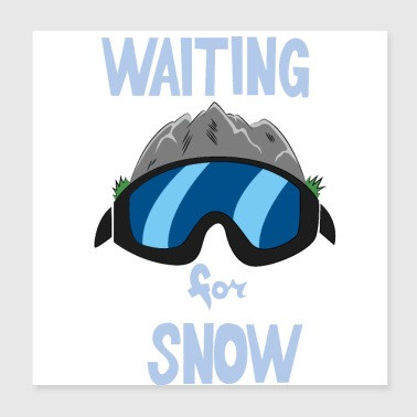 Winter sports glasses - Poster 20x20 cm