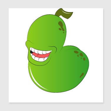 Funny cucumber - Poster 20x20 cm