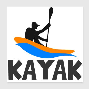 Rafting in kayak - Poster 20x20 cm