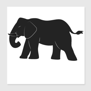 Olifant ontwerp - Poster 20x20 cm