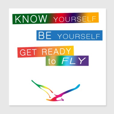 Get ready to fly - Poster 20x20 cm
