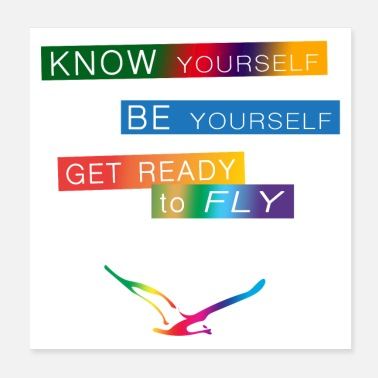 Philosophy Get ready to fly - Poster 20x20 cm