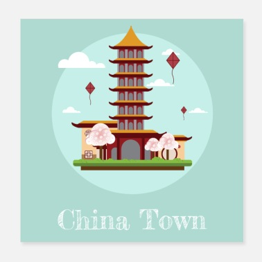 China China Town - Poster 20x20 cm