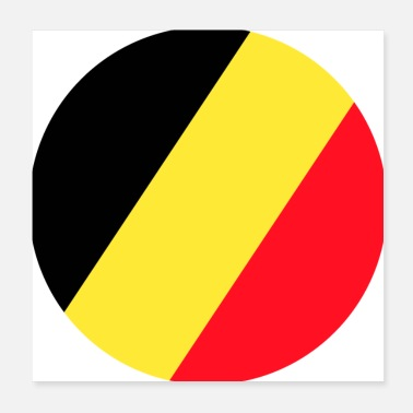 World Championship Belgium, Belgium flag, Belgium flag, world champion - Poster