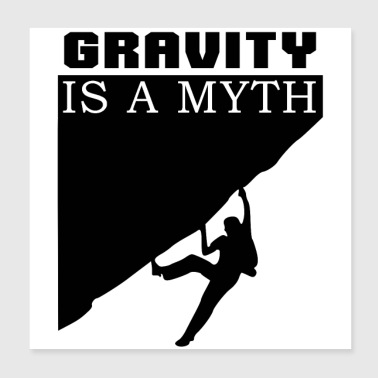 Gravity is a Myth - Poster 20x20 cm