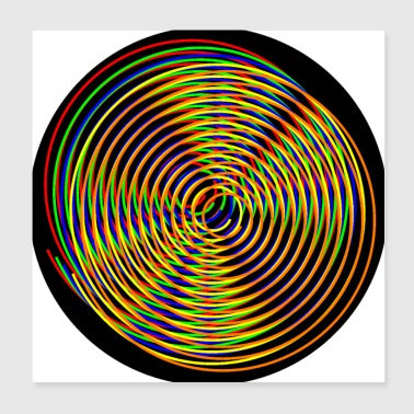 Spirals colorful of different colors - Poster 20x20 cm