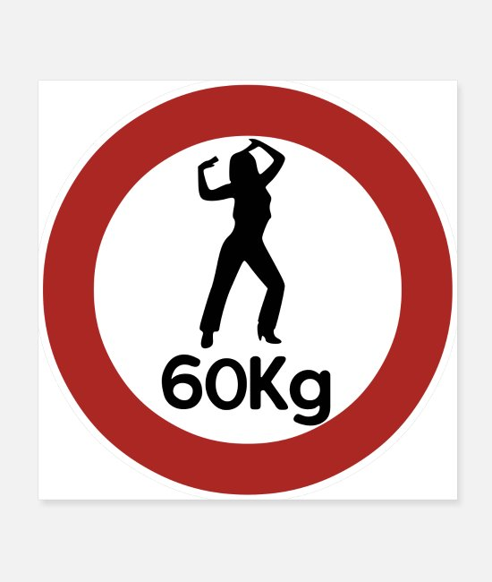 60s Posters - 60kg Weight Slimming Fun Gift Idea - Posters white