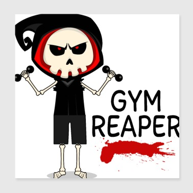 Muscle Gym Reaper - Poster 20 x 20 cm