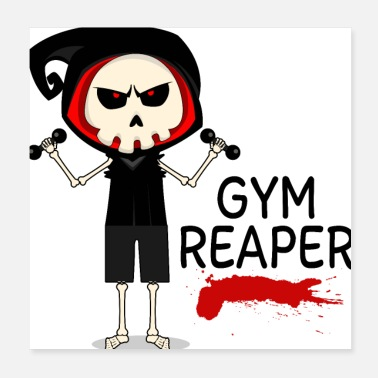 Squat Gym Reaper - Poster 20 x 20 cm