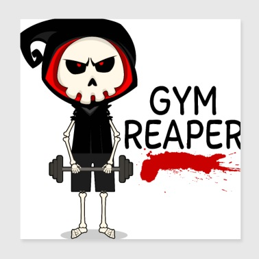 Gym Reaper - Poster 20x20 cm