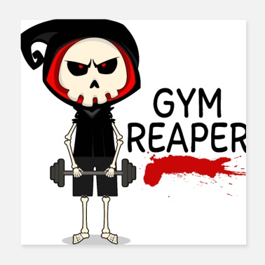 Squat Gym Reaper - Poster 20x20 cm