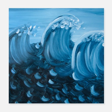 Purchase 3 waves square - Poster