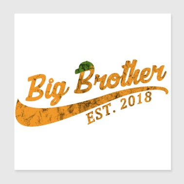Big Brother Established 2018 - Geschenkidee - Poster 20x20 cm