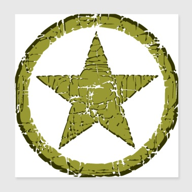 STAR MILITARY STONE - Poster 20x20 cm