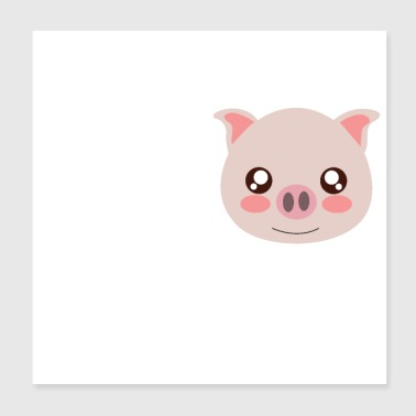Pigs Father's Day - Poster 20x20 cm